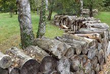 Log fences