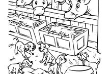 coloring pages 22 (101 dalmatians+Oliver+Aristocats)