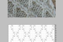 編み 図 アラン編み