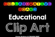 Educational Clip Art / An Educational Clip Art collaborative board.  Want to join this board? Follow me. Then send me an email with your Pinterest url at spanishprep@gmail.com *Limit yourself to three freebie/paid products per day!*