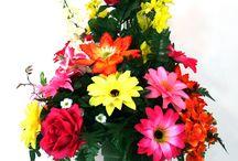 Flowers for Mama / Cemetery vase arrangements.