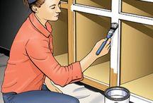 Painting kitchen  / Painting veneer