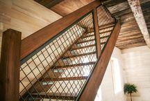 Wood design / bookshelf, bibliotheque, staircase, timber frame, BOIS RÉCUPÉRÉ, BOIS DE GRANGE, MEUBLES UNIQUES, WOODWORKING, ÉBÉNISTERIE, Furniture, home design, barn wood, reclaimed wood...