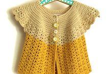 chalecos crochet niña