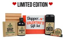 Valentines Gift Sets for Men! / Don't be a Stupid Cupid!  Show your honey how much you care AND help him get all spiffy for your Valentine's date with our brand-spanking-new Valentine's Gifts!