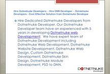 Hire Dotnetnuke Developers ~ Hire DNN Developer ~ Dotnetnuke Developers - Cost Effective Solution from Dotnetnuke Developer