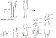 Menschliche Wesen zeichnen