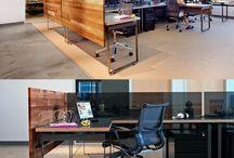 Open plan work office