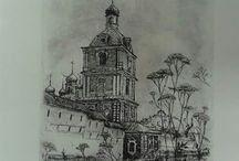 моя графика/my engraving/intaglio
