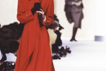 Valentino / Whether it's scarlet, blood or crimson, Valentino loves red, and has been paying homage to it since 1959. Valentino Garavani, the founder of the label, made it his signature color and passed this passion onto his successors and every show, lovers of 'Valentino red' eagerly await the scarlet dress at the finale.