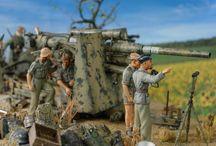 DAK Afrika Korps -  Allied / Diorama 1/35 scale war in Afrika ww2
