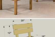 W - Table & Chair & Bench