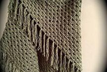 Omslagdoek gehaakt groen / Dit is een mooi gaten op naald 10