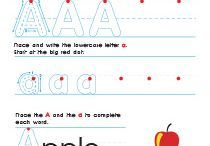 Printable Alphabet Worksheets / Our printable alphabet worksheets will help your kids learn writing letters with fun. They have colorful design and bright pictures to engage your little ones and keep up their interest in handwriting in the long run.