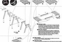 planos de muebles con palets