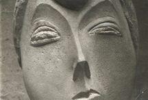 Constantin Brancusi /     * 1876 - † 1957, Romania, France  Romanian sculptor Constantin Brancusi (Brâncuşi) was born on the 19th of February 1876 in the small Carpathian village of Hobitza.  Brancusi died on the 16th of March 1957 in Paris. He was buried in Cimetière du Montparnasse.