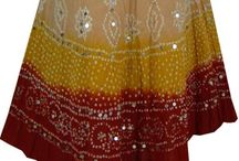 Sexy Mid Length Indian Skirts| Long Cotton Skirt |Casual Beachwear| www.artingle.com / Buy Online Indian Skirts, Long Skirts and handmade Crochet.Indian Skirts,Long Skirts,Skirts from the biggest fair trade global ethnic brand. We serve in 23 countries with Free shipping.