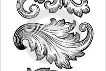 Baroque and damask