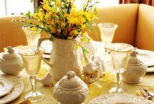 Beautiful table settings / by Cheryl Bibee