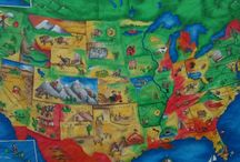 North American Geography 5th grade Waldorf / by Sasha Prosser