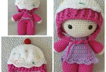 Crochet big head dolls