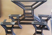 mesas de madera fierro