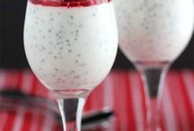 Creamy puddings with chia seeds