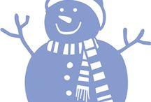 силуэты снеговиков