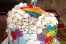 Up in the sky / Rainbow cake