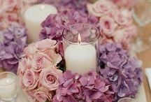 purple wedding centerpieces