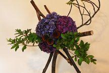 Blomsterdekorasjon navnefest