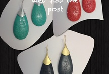 Sting ray skin earrings / Fab sting ray skin earrings great colours