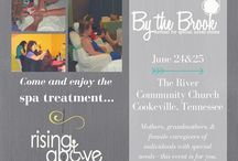 By The Brook Retreat / Our annual By The Brook Retreat is held every summer in Cookeville, Tennessee.  This is a weekend full of pampering, relaxation and encouragement for moms, grandmothers, and female caregivers of individuals with special needs.