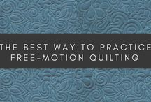 Free Motion Quilting / Tips and techniques with lots of free motion quilting inspiration.