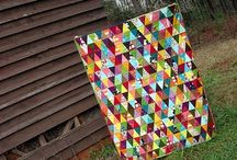 Quilty Triangles and Geese / Quilts made primarily from triangles and flying geese