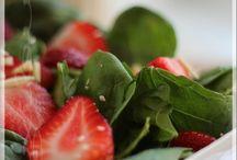 Salade d'épinards et fraises
