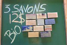3 savons bio / 3 organics soap