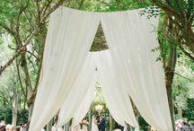 Stunning gold and pink garden wedding