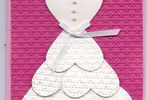 Hearts dress card