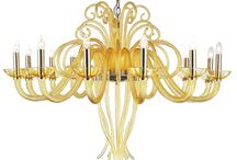 Etna Heat - Mollini / #Chandelier made of best quality #blown #glass. Extremely decorative chandelier brings to mind underwater forms. Chromed gold construction gives #elegance and #luxurious look. Perfect finishing, easy montage and design look are one of the advantages of this product.