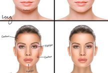 Oval face make up and hair