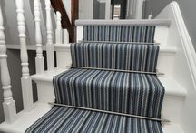 Off The Loom Stair Runner | Middleton 1 with Atlantic Stair Rods