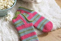 crochet socks, slippers and shoes