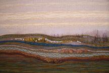Landschap weven inspiratie /landscape weaving inspiration