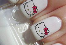 Hello kitty маникюр