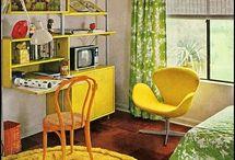 70's kids bedroom