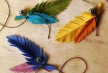 School / Felt feathers