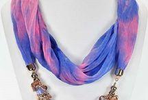Foulards bijoux  / Foulards bijoux-diverses matières et coloris