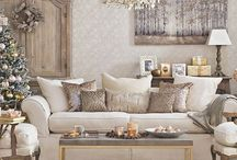 White, cream and gold living rooms