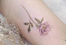 tiny colored tattoo